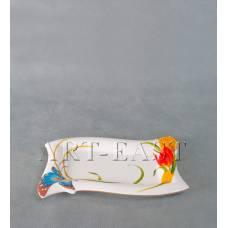 ALF 55-058 Тарелка прямоугольная ''Тюльпаны'' 22см