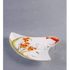 """ALF 55-082 Тарелка треугольная сервировочная """"Орхидеи"""" 22,5см"""