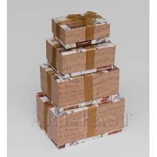 """WA-50-15 Комплект коробок из 4шт """"Прямоугольник новый"""""""