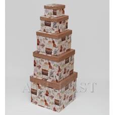 "WA-53-15 Комплект коробок из 5шт ""Куб новый"""