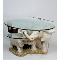 ALF 09078 Журнальный стол ''Слоны'' H-500, D-1195*700