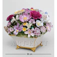 "CMS-33/ 2 Композиция из костяного фарфора ""Ваза с цветами"" (Pavone)"