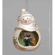 """CMS-39/12 Фігурка підвісна """"Веселий сніговик"""" (Pavone)"""