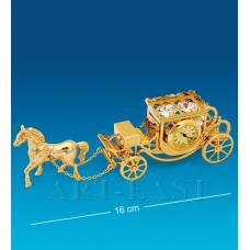 "AR-1309 Фигурка с часами ""Карета с лошадью"" (Юнион)"