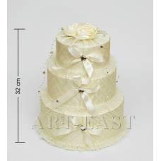 """WB-44 Коробка 3-ярусна """"Святковий торт"""""""