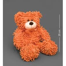 CR-24 Медведь с бантиком - оранжевый 35см