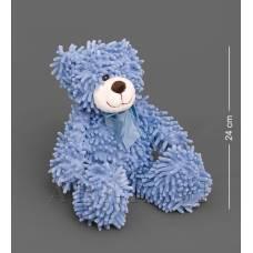 CR-21 Медведь с бантиком - синий 35см