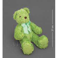 CR-15 Медведь с бантиком - зеленый 40см