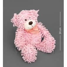 CR-26 Медведь с бантиком - розовый 35см