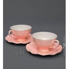 """AS-37 Чайний н-р на 2 перс. """"Граціозо Россо"""" рожевий"""