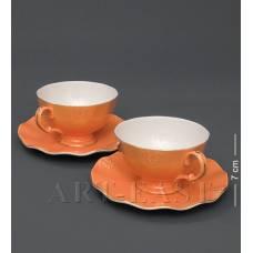 """AS-40 Чайный н-р на 2 перс.""""Грациозо"""" оранж"""