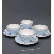 "AS-05 Чайный н-р на 4 перс.""Лаце Росса"" голубой"