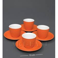"FD-18 Кофейный н-р на 4 перс. ""Колумбия"" оранж"
