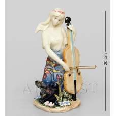 """JP-37/ 9 Статуэтка девушка """"Волшебная виолончель"""" (Pavone)"""