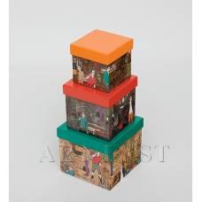 """WE-48 Н-р коробок из 3шт """"Куб"""""""