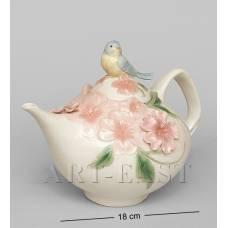 "CMS-54/ 2 Чайник ""Голубая птица Счастья"" (Pavone)"