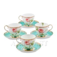 JK- 66 Чайный набор на 4 перс. ''Роза'' (Milano Rose Pavone)