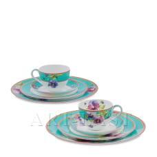 JK-112 Чайний набір на 2 персон ''Віола'' (Viola Pavone)