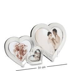 "CHK-039 Фоторамка ""Влюблённые сердца"" на 3 фото"